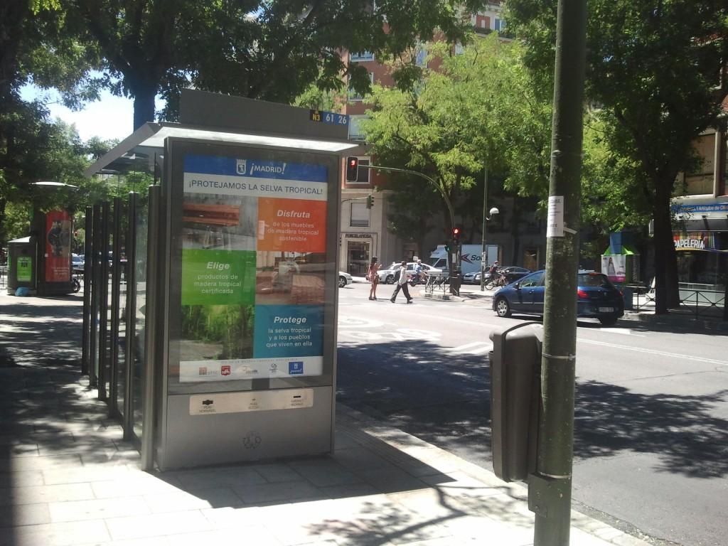 STTC marquesina autobús Madrid