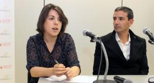 María Bartolomé (SGS) junto a Javier Fernández, Director General de COPADE, en la firma de renovación del acuerdo de colaboración entre la Fundación y la Entidad de Certificación.