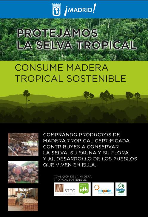 Marquesinas promoviendo el consumo de madera tropical sostenible