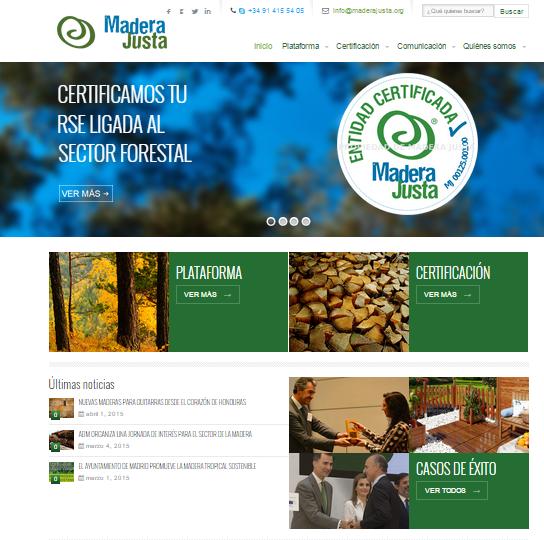 Nueva Web Madera Justa- ComercioJusto